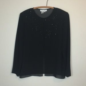 ADRIANNA PAPÉLL Evening Essentials Sheer Jacket PL